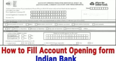 account opening form of indian bank