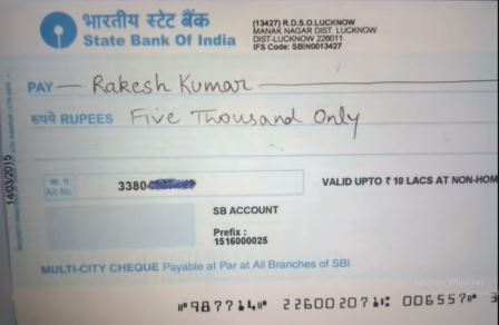 types of cheque & method of drawing